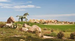 El desierto suelta campo de golf Fotos de archivo libres de regalías