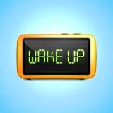 El despertador de Digitaces despierta stock de ilustración