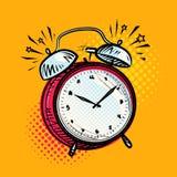 El despertador está sonando, llamada de activación Recordatorio, concepto del plazo Ilustración del vector Foto de archivo libre de regalías