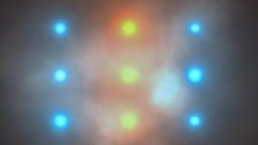 El destellar dinámico de las luces de la etapa brillante ilustración del vector