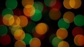 El destellar Garland Lights Blur Background metrajes