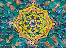 El detalle de de cerámica adorna Imagen de archivo