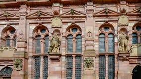 El detalle de la fachada del castlee de Heidelberg en Heidelberg, Alemania fotos de archivo libres de regalías
