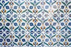 El detalle del árabe antiguo adornó la pared Imágenes de archivo libres de regalías