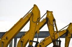 El detalle del excavador Construction Equipment Imagen de archivo libre de regalías