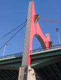 El detalle del puente cerca del museo de Guggenheim en Bilbao, S fotos de archivo libres de regalías