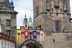 El detalle del puente viejo de la ciudad Imágenes de archivo libres de regalías