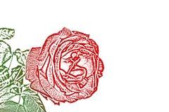 El detalle del rojo se levant? libre illustration