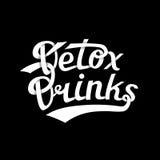 El Detox bebe a Logo White Imagen de archivo