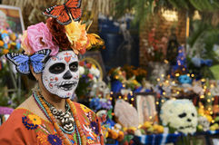 El Dia de Los Muertos. Hollywood Forever is the only cemetery in the country which opens its gates and welcomes its surrounding community to commemorate El Dia Royalty Free Stock Images