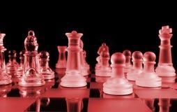 El diablo juega a ajedrez imagen de archivo libre de regalías