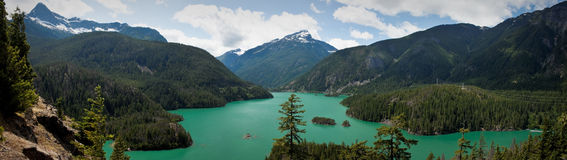 El Diablo Lake panorama Royalty Free Stock Images