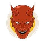 El diablo sonriente cruel Fotografía de archivo