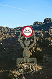 El diabolo, sign for Timanfaya National Park Royalty Free Stock Photography