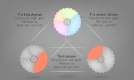 El diagrama con las opciones, procesos asoció el circuito libre illustration
