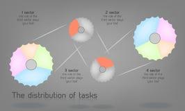 El diagrama con las opciones, procesos asoció el circuito stock de ilustración