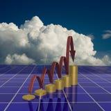 El diagrama del crecimiento. stock de ilustración