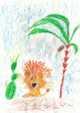 ¡El dibujo de los niños buenas fiestas! Imagen de archivo libre de regalías