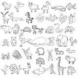 El dibujo de los niños de los animales del garabato Imagen de archivo