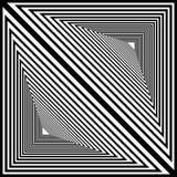 El dibujo del estilo de Zenart, modela inscrito en un círculo, negro y stock de ilustración