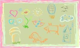 El dibujo del niño Fotos de archivo