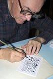 El dibujo viejo del dibujante Foto de archivo libre de regalías