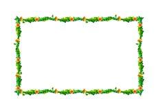 El diente de león de la acuarela florece, florece marco rectangular aislado en el fondo blanco Fotografía de archivo