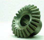 El diente grande rueda adentro el motor Fotos de archivo libres de regalías