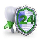 El diente y el escudo Imagen de archivo libre de regalías