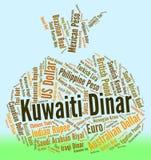 El dinar kuwaití representa el comercio y dinares de las divisas ilustración del vector
