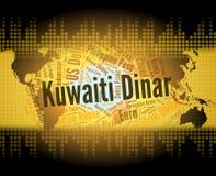 El dinar kuwaití representa el comercio y dinares de las divisas libre illustration
