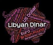 El dinar libio indica de divisas y dinares stock de ilustración