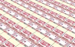 El dinar servio carga en cuenta el fondo de las pilas stock de ilustración