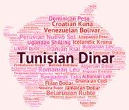 El dinar tunecino significa intercambio y el agente de moneda stock de ilustración