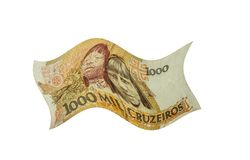 El dinero chino se aísla en blanco imagenes de archivo
