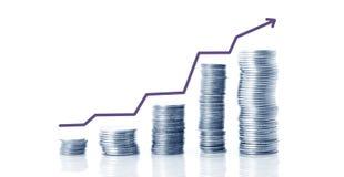 El dinero crece concepto foto de archivo