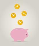 El dinero de los itdel tiempo Imagen de archivo libre de regalías