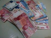 El dinero del indonesio del dinero fotografía de archivo libre de regalías