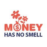 El dinero del texto no huele Imagenes de archivo
