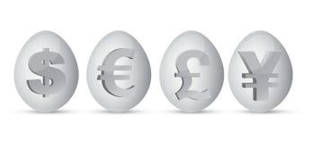 El dinero en circulación eggs la ilustración Fotos de archivo