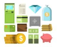 El dinero en efectivo y el otro cartel precioso de los ahorradores en blanco Fotografía de archivo libre de regalías