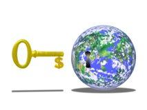 El dinero es clave Imagen de archivo libre de regalías