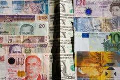 El dinero está dividiendo países Imagen de archivo libre de regalías