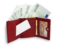 El dinero está en la cartera Imagen de archivo