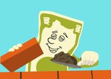 El dinero está trabajando Imagen de archivo libre de regalías