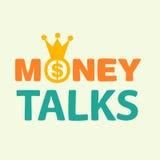 El dinero habla el texto Fotos de archivo