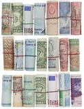 El dinero rueda el fondo Fotografía de archivo libre de regalías