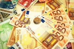 El dinero tiró dos Foto de archivo libre de regalías
