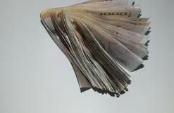 ¡El dinero viene adentro!!! Imagen de archivo