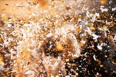 El disco, banquete, baile borroso gente del fondo Celebración del Año Nuevo imagen de archivo